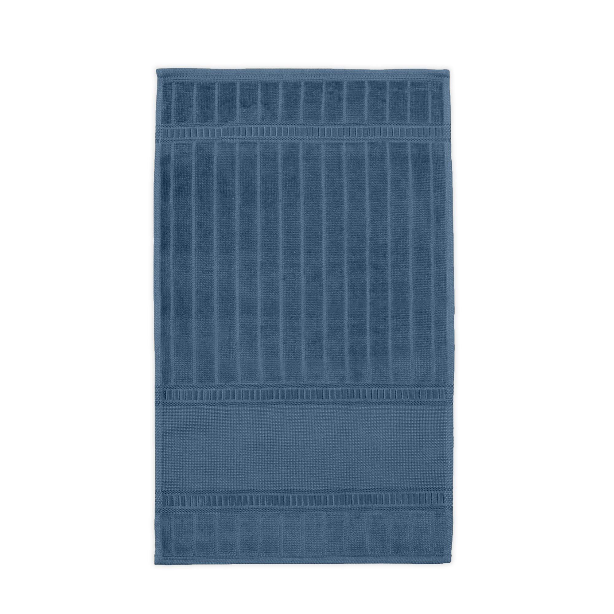 Toalha Lavabo Carprice Luxo 100 Algodao 30x50 cm Azul - Buettner
