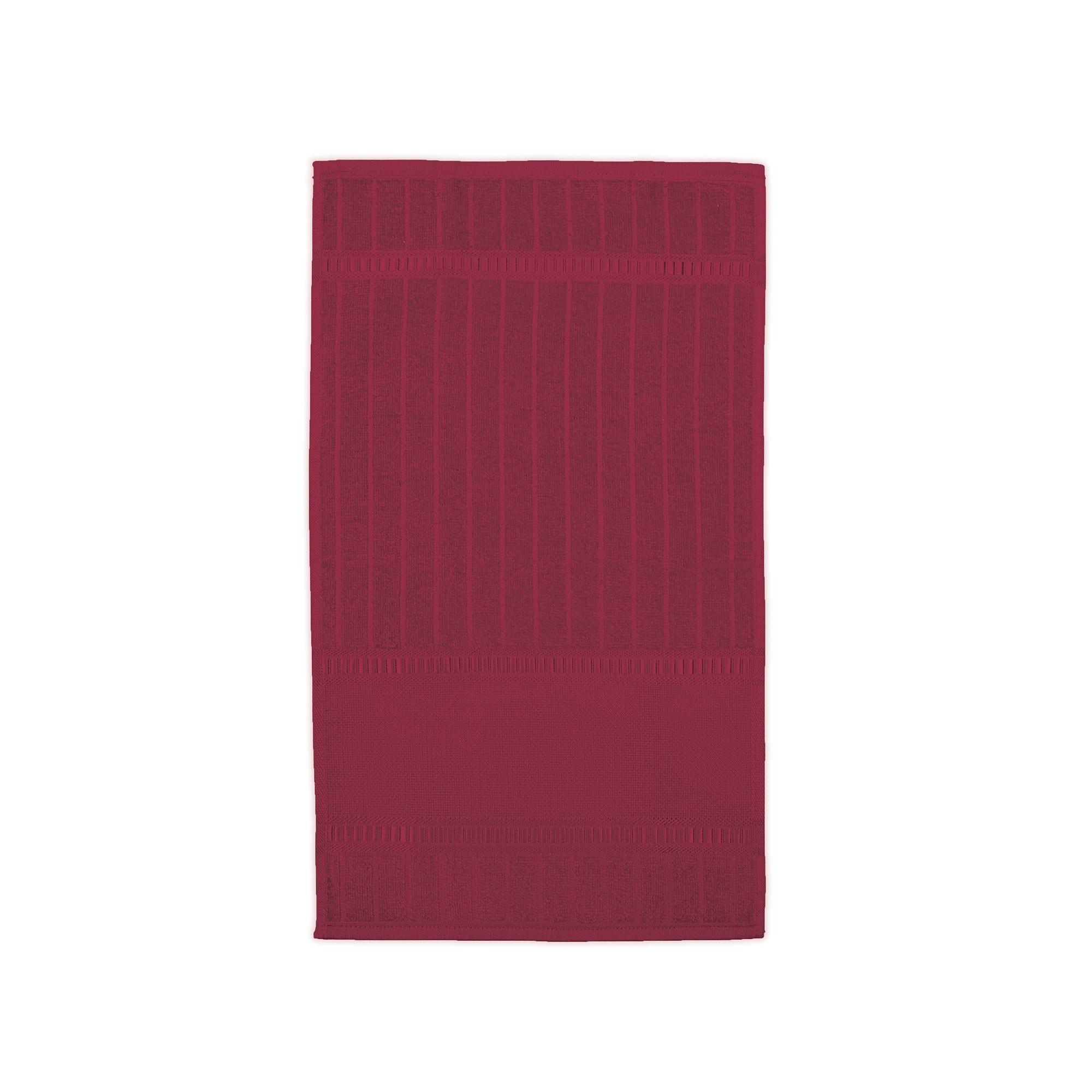 Toalha Lavabo Carprice Luxo 100 Algodao 30x50 cm Vermelha - Buettner