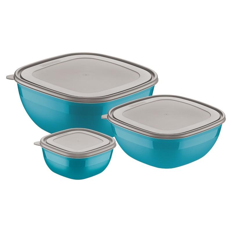 Jogo de Potes Tramontina 3 Pecas Azul - 25099