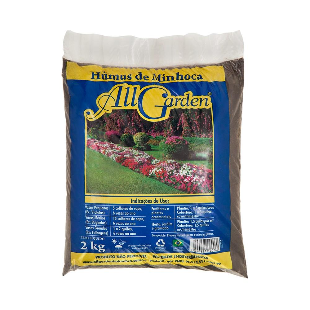 Humus de Minhoca All Garden 2kg Natural