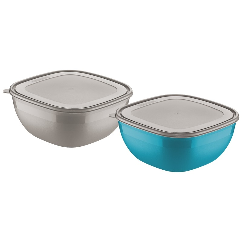 Jogo de Potes Tramontina 2 Pecas 4L Azul e Cinza - 25099