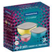 Jogo de Potes Tramontina 3 Peças Mix Color -25099