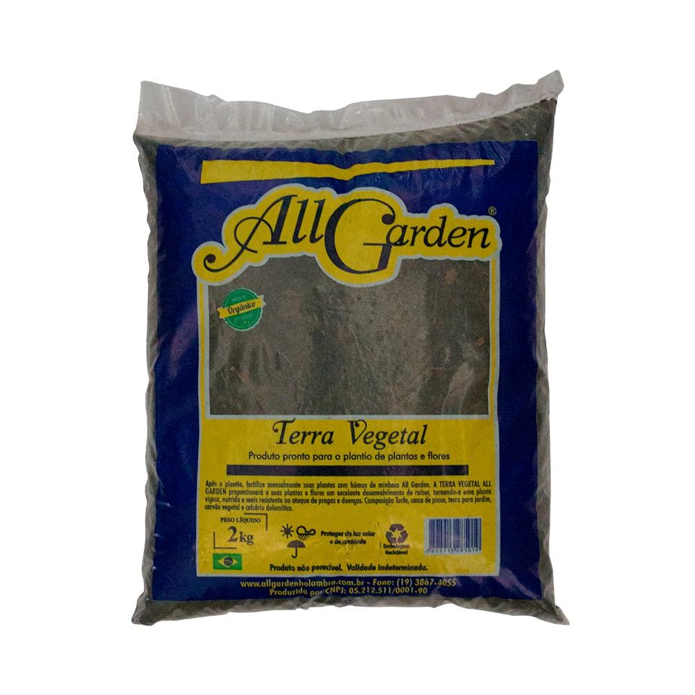 Terra Vegetal Pronta para Plantio de Plantas e Flores 2kg - All Garden