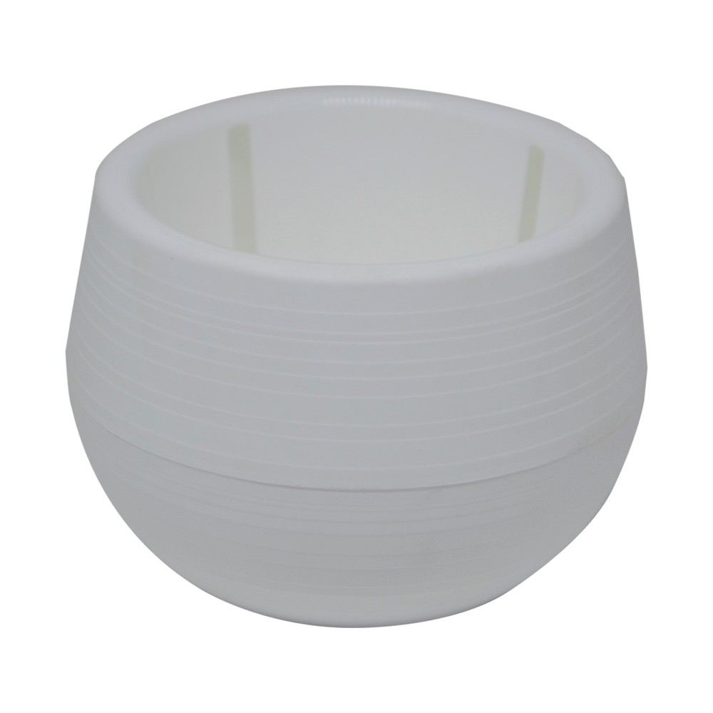 Vaso para Plantas Bigball Plastico Branco 13 cm - All Garden