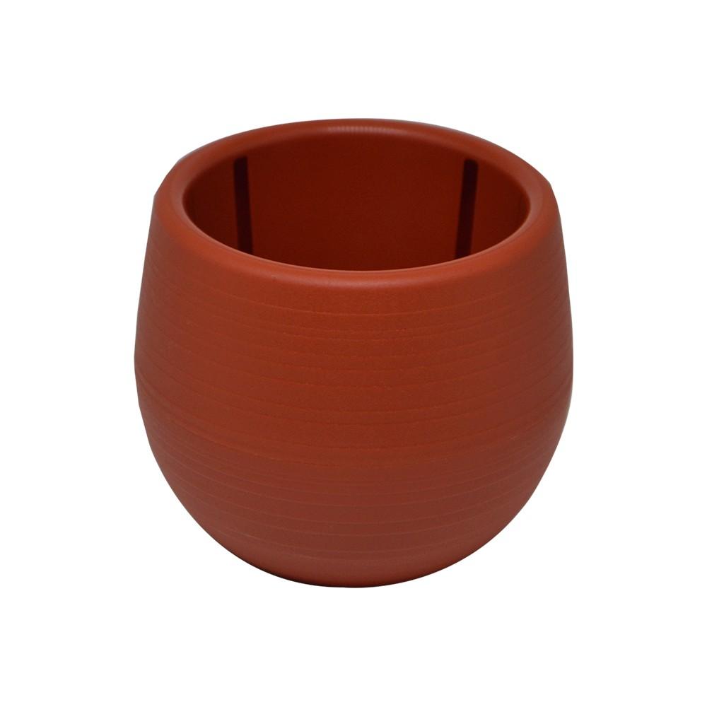 Vaso para Plantas Marrom Terroso Babyball Plastico 6 cm - All Garden