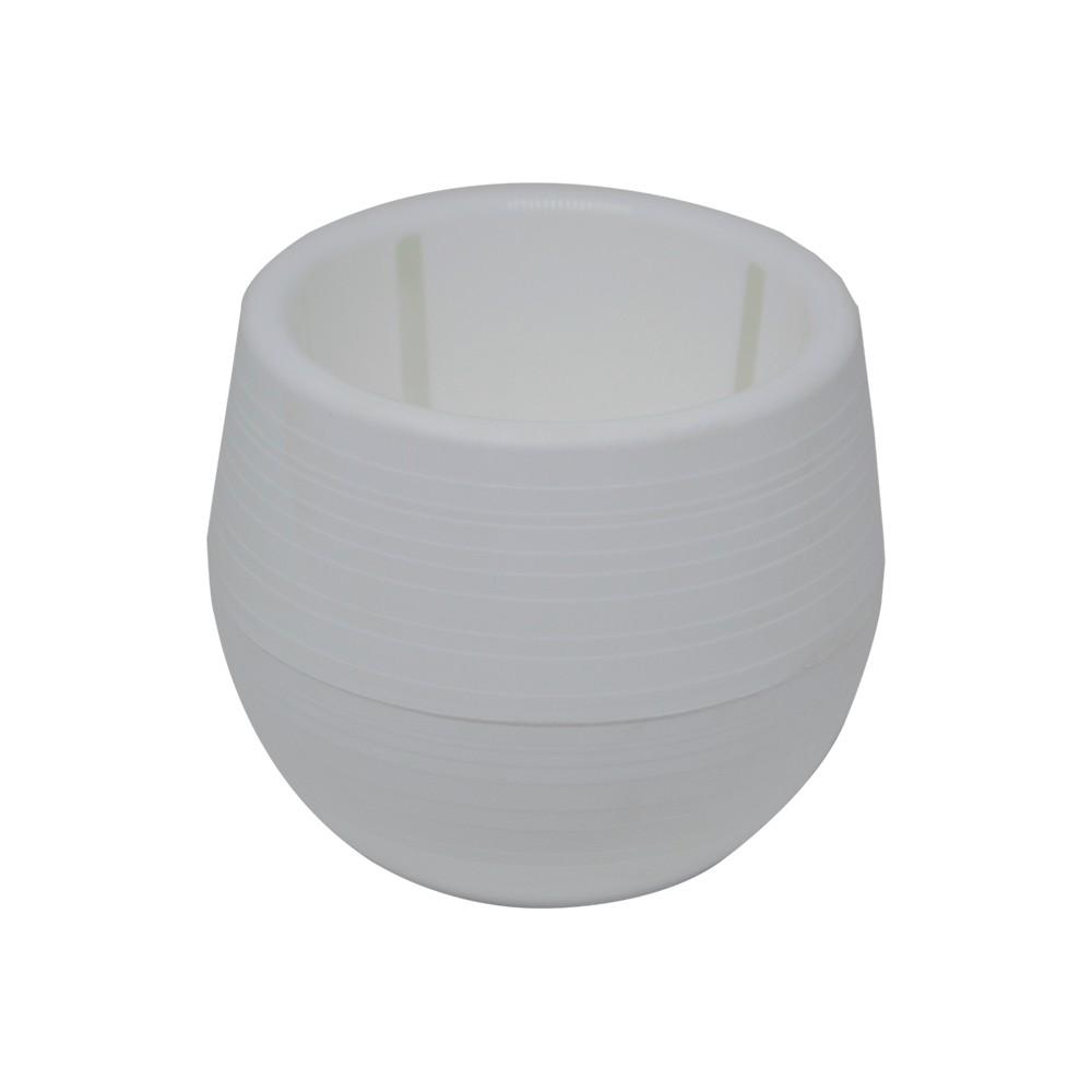Vaso para Plantas Branco Babyball Plastico 6 cm - All Garden
