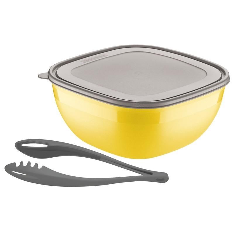 Kit Saladeira Tramontina 4L Mix Color com 2 Pecas Amarelo - 25099