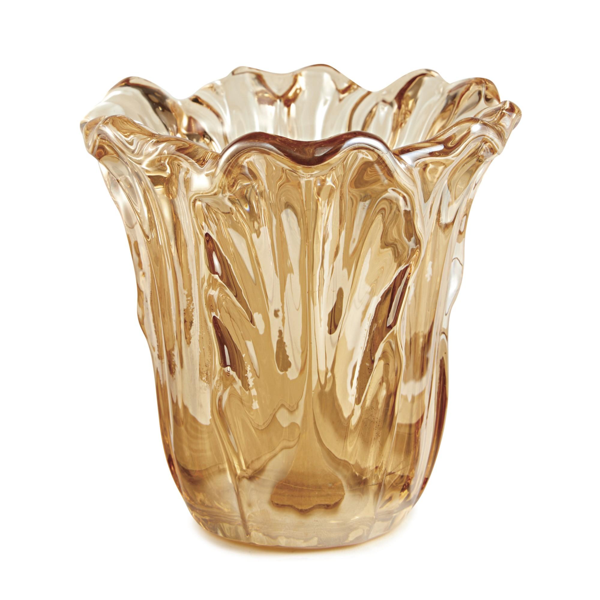 Vaso Decorativo em Vidro Champagne 11 cm - Mart