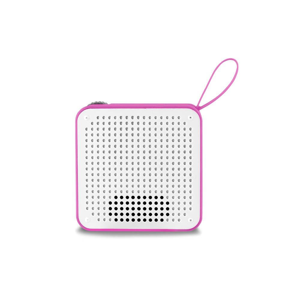 Caixa de Som Bluetooth Mini SP311 P2 USB 5w Rosa IPX4 - Multilaser