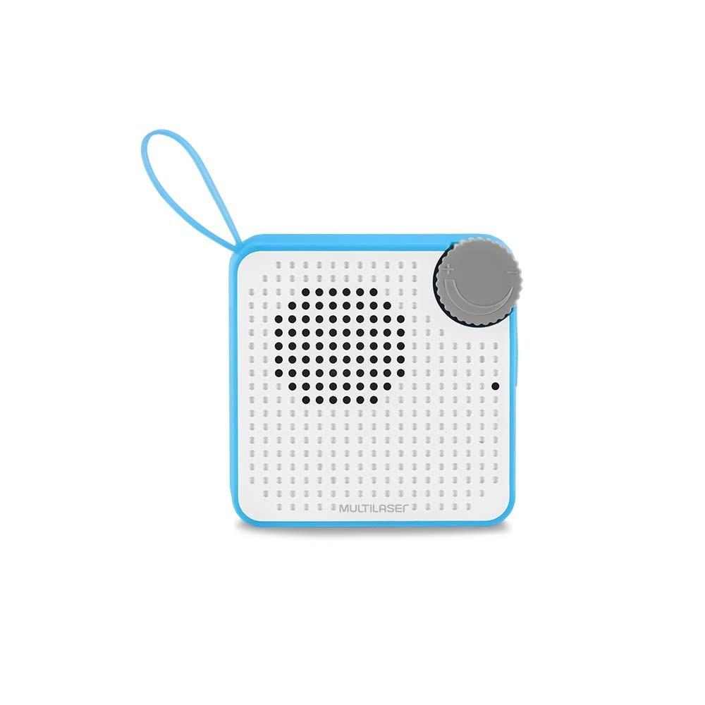Caixa de Som Bluetooth Mini SP312 P2 USB 5w Azul IPX4 - Multilaser