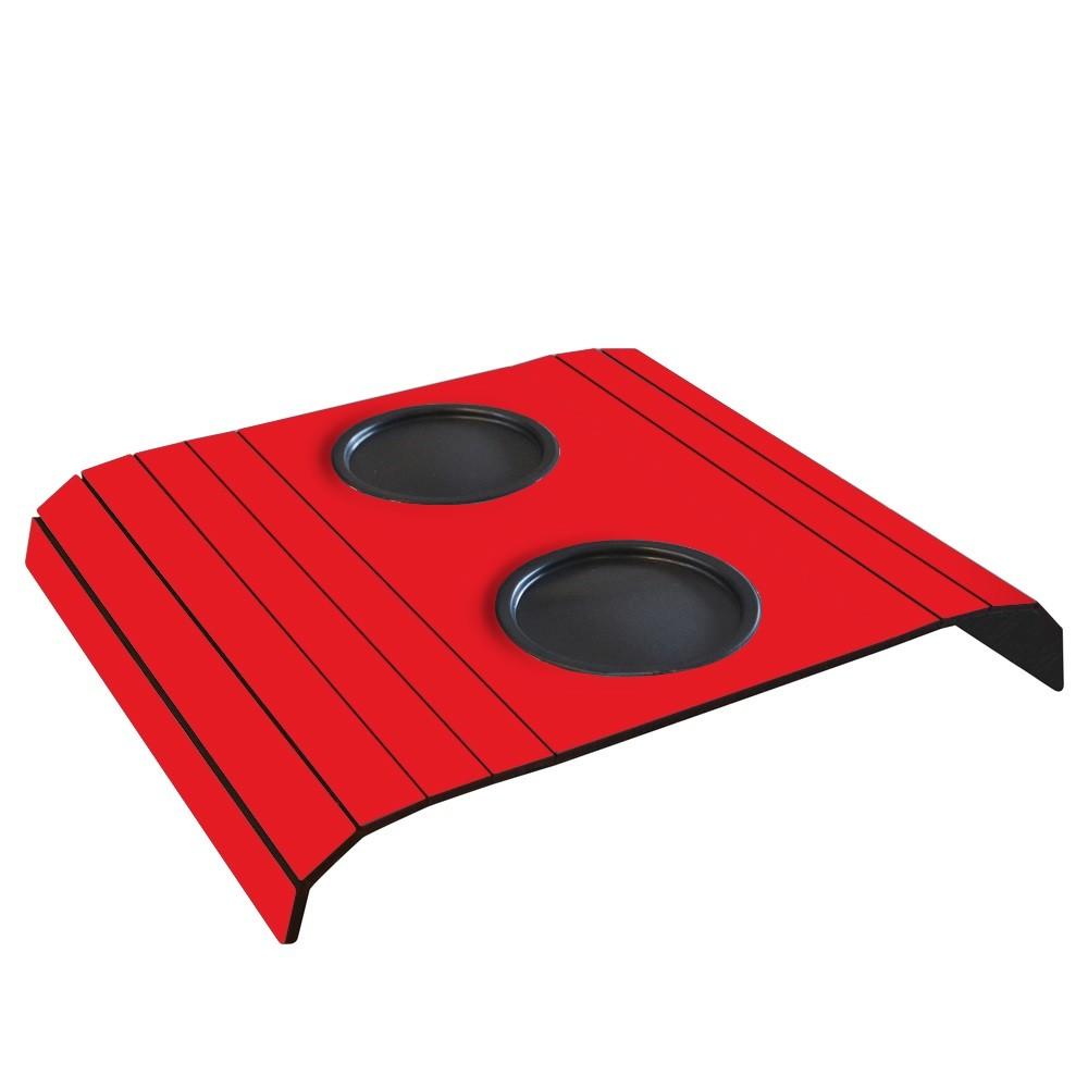 Esteira para Sofa com 2 Porta Copos em MDF Vermelho - Cia Laser