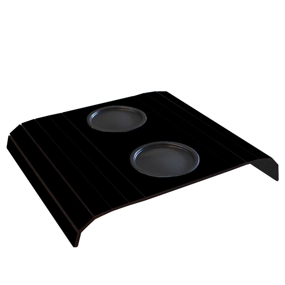 Esteira para Sofa com 2 Porta Copos em MDF Preta - Cia Laser