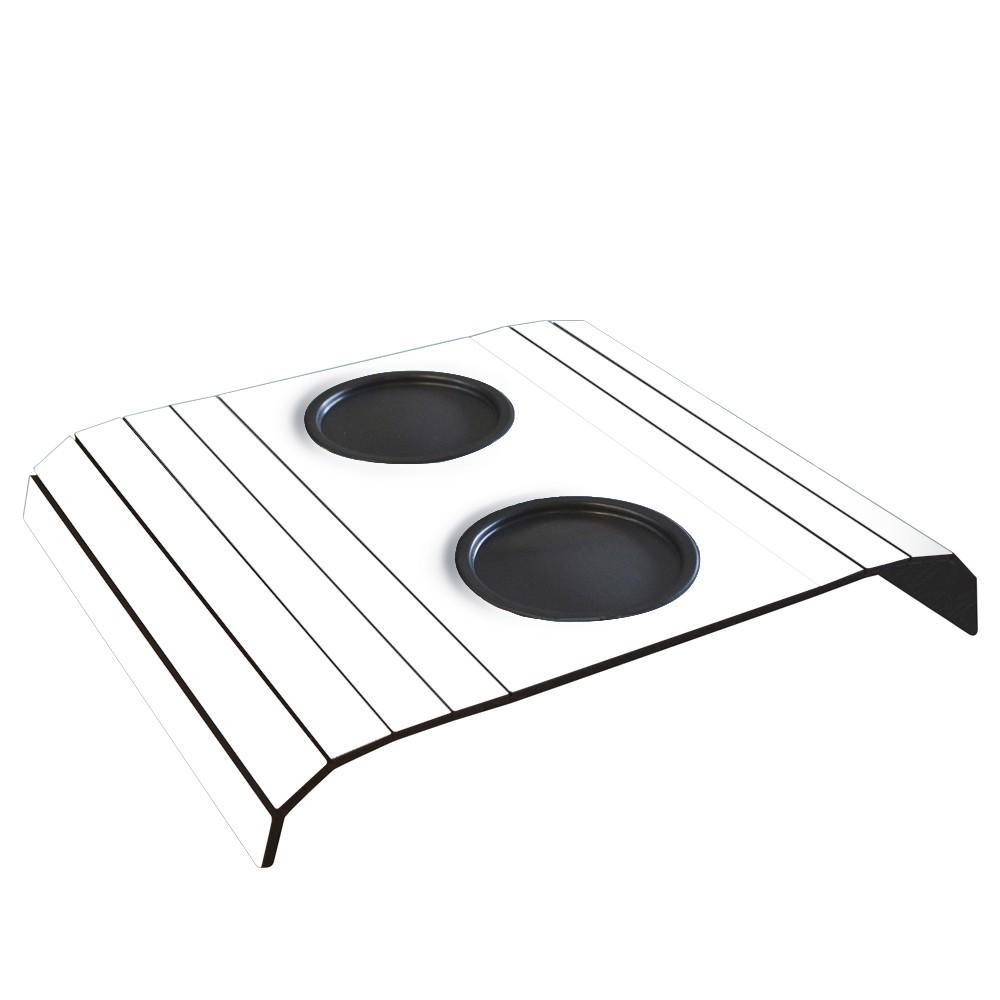 Esteira para Sofa com 2 Porta Copos em MDF Branca - Cia Laser