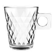 Jogo de 6 Xícaras Diamond Coffee Time de Vidro 80ml - Full Fit