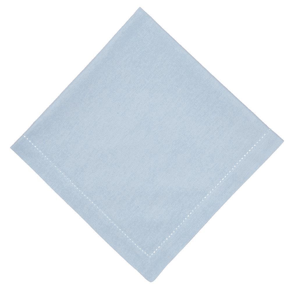 Guardanapo de Tecido Azul 50x50 cm Ponto Ajour Algodao - Rafimex