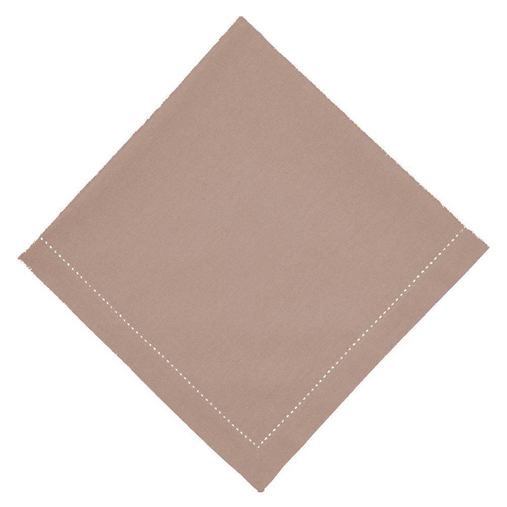 Guardanapo de Tecido Bege 50x50 cm Ponto Ajour Algodao - Rafimex