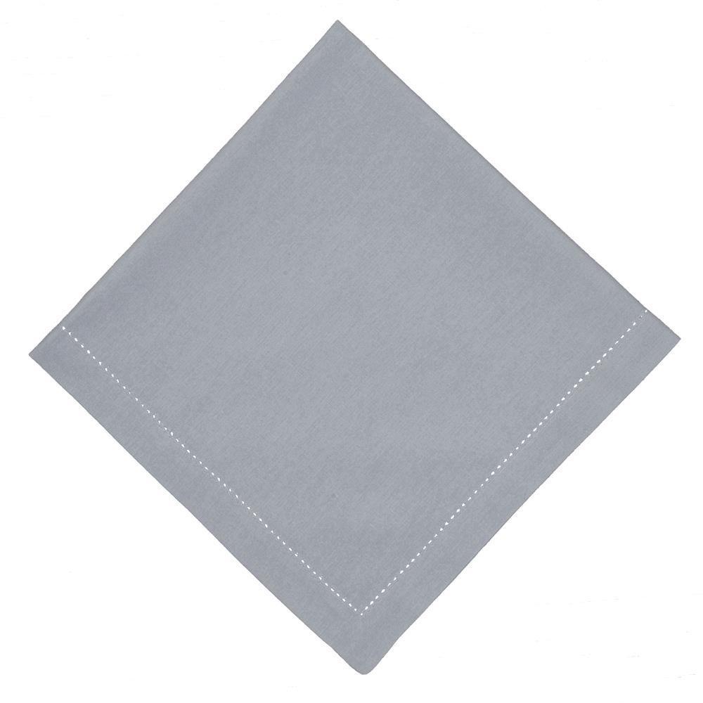 Guardanapo de Tecido Cinza 50x50 cm Ponto Ajour Algodao - Rafimex
