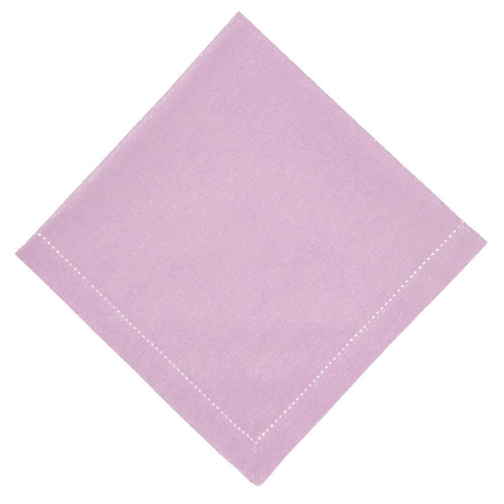 Guardanapo de Tecido Rosa 50x50 cm Ponto Ajour Algodao - Rafimex