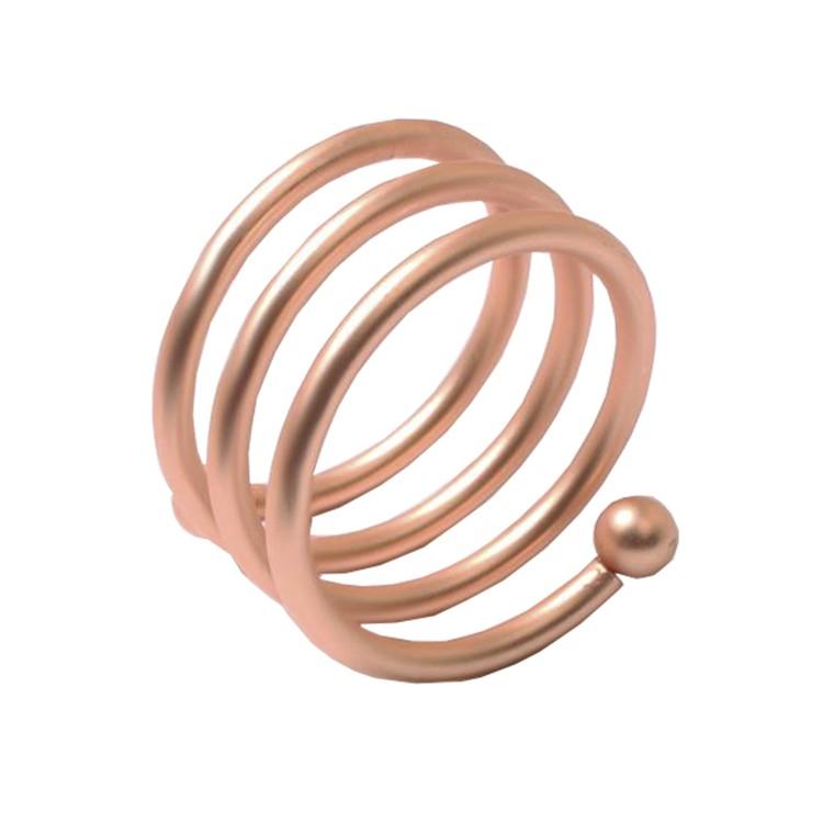 Jogo com 4 Porta-guardanapos Espiral Cobre - Rafimex