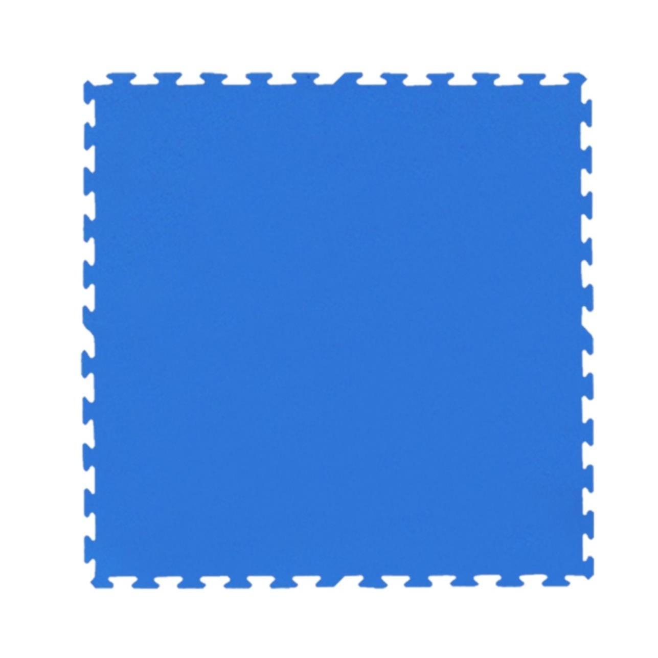 Tatame de Borracha EVA 100x100 cm Azul - Ibel