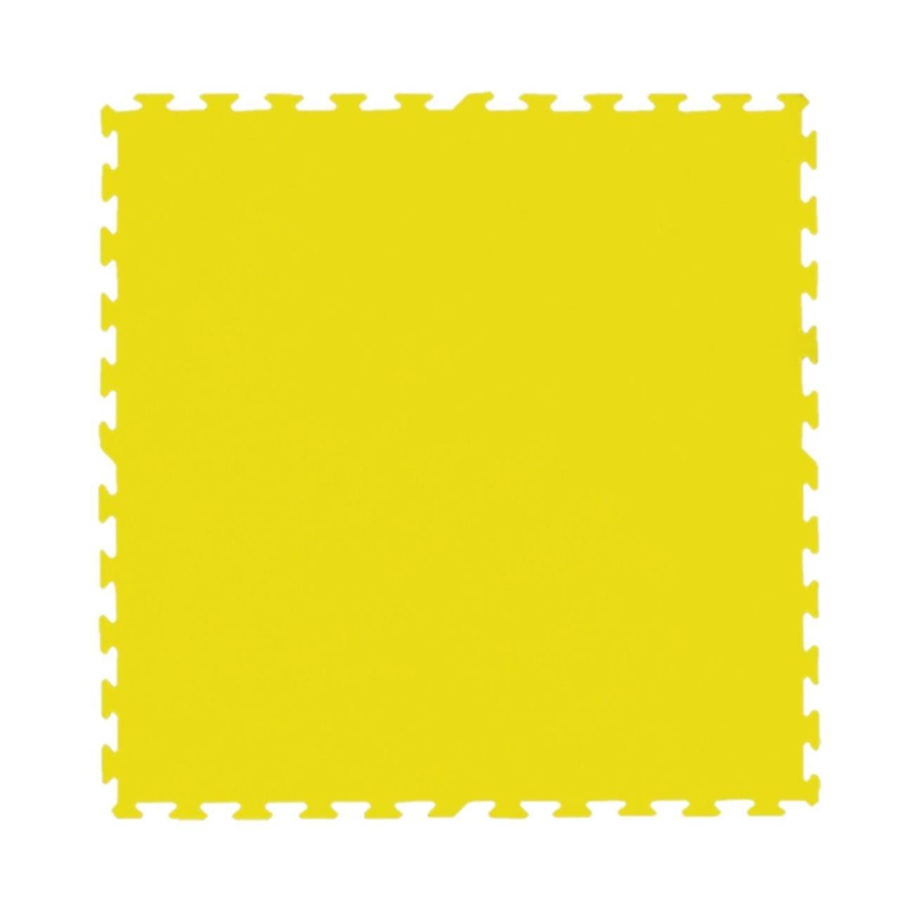 Tatame de Borracha EVA 100x100 cm Amarelo - Ibel