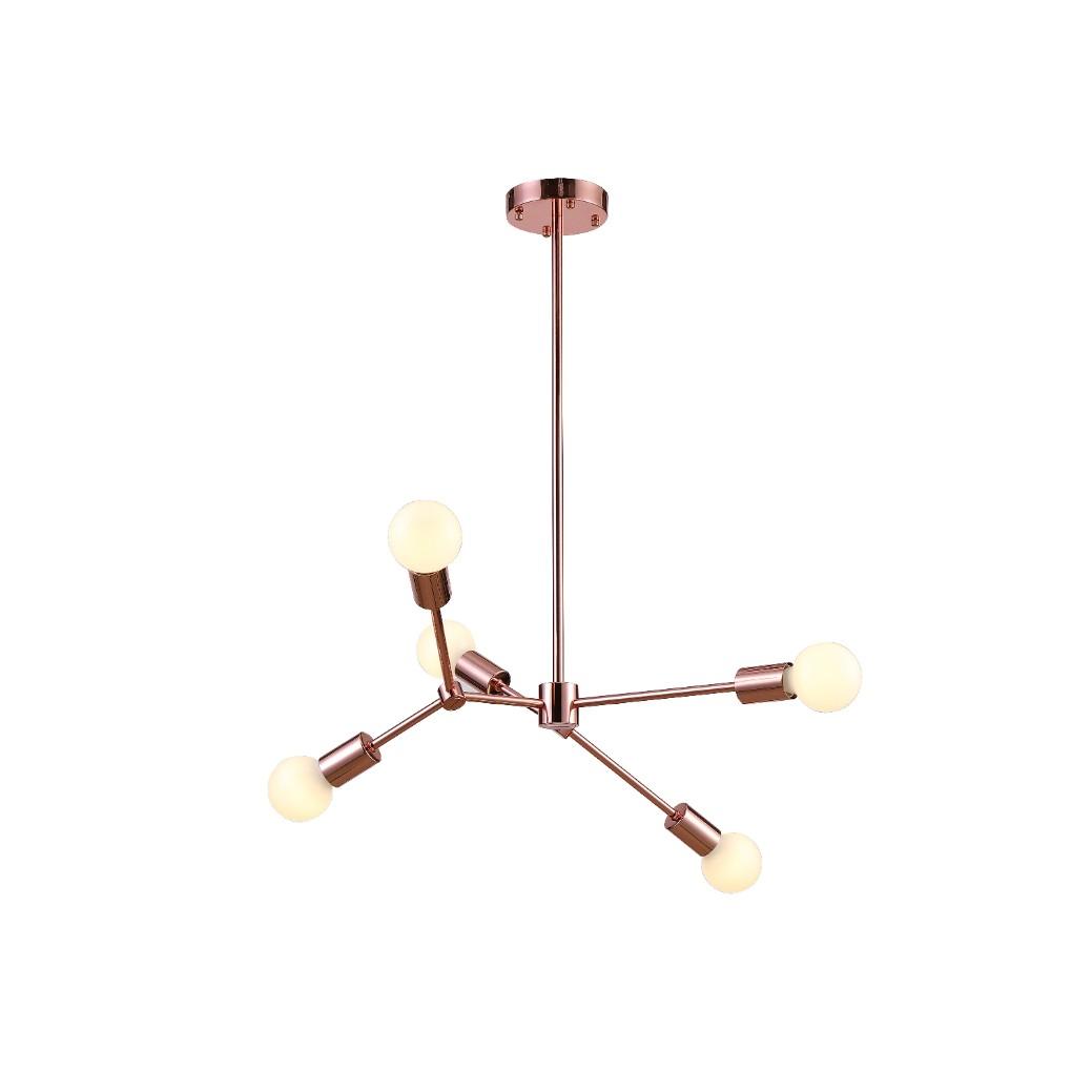 Pendente Leblon 60 cm com 5 Lampadas Bella Iluminacao Rose - RM001R