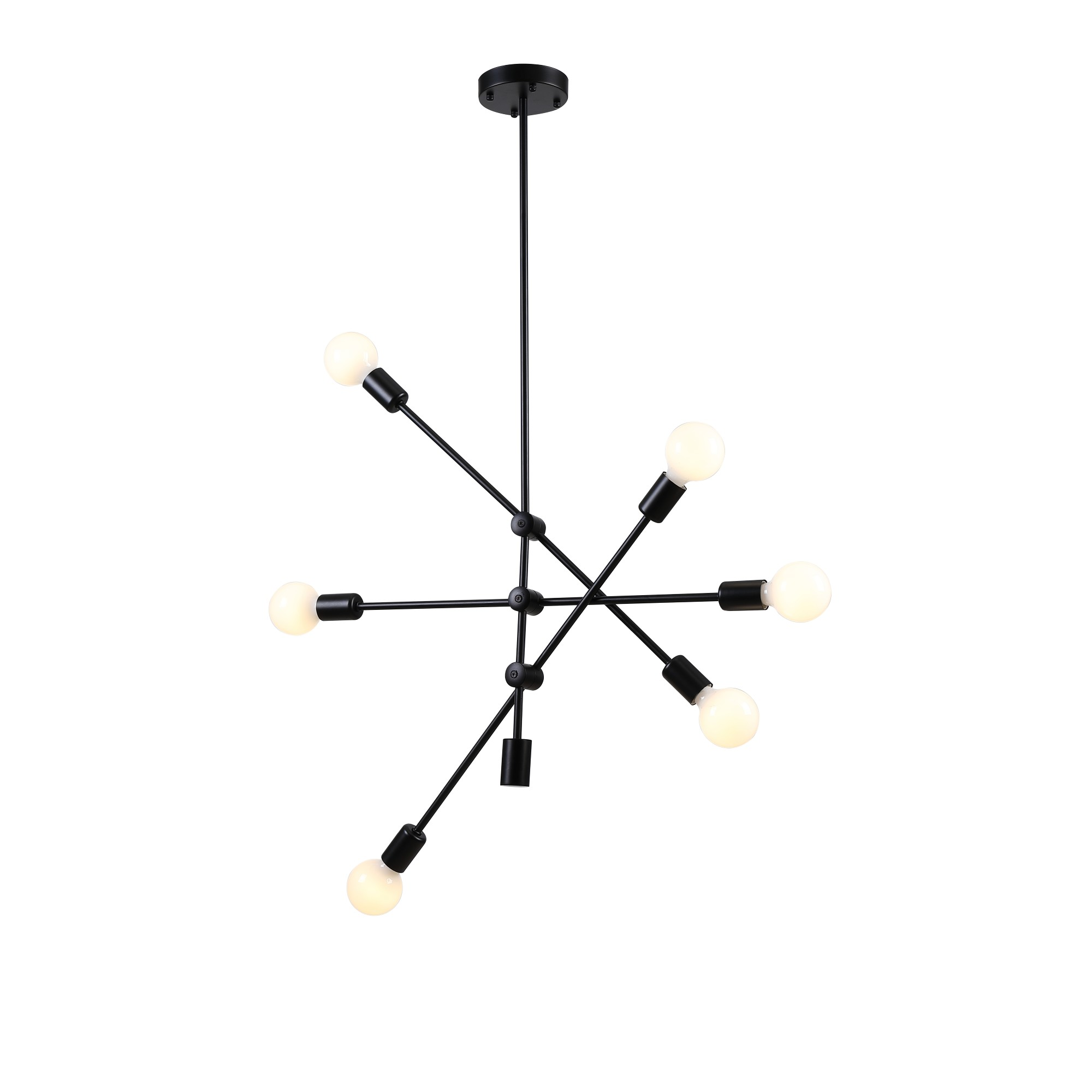 Pendente Ipanema 68 cm com 6 Lampadas Bella Iluminacao Preto - RM004B