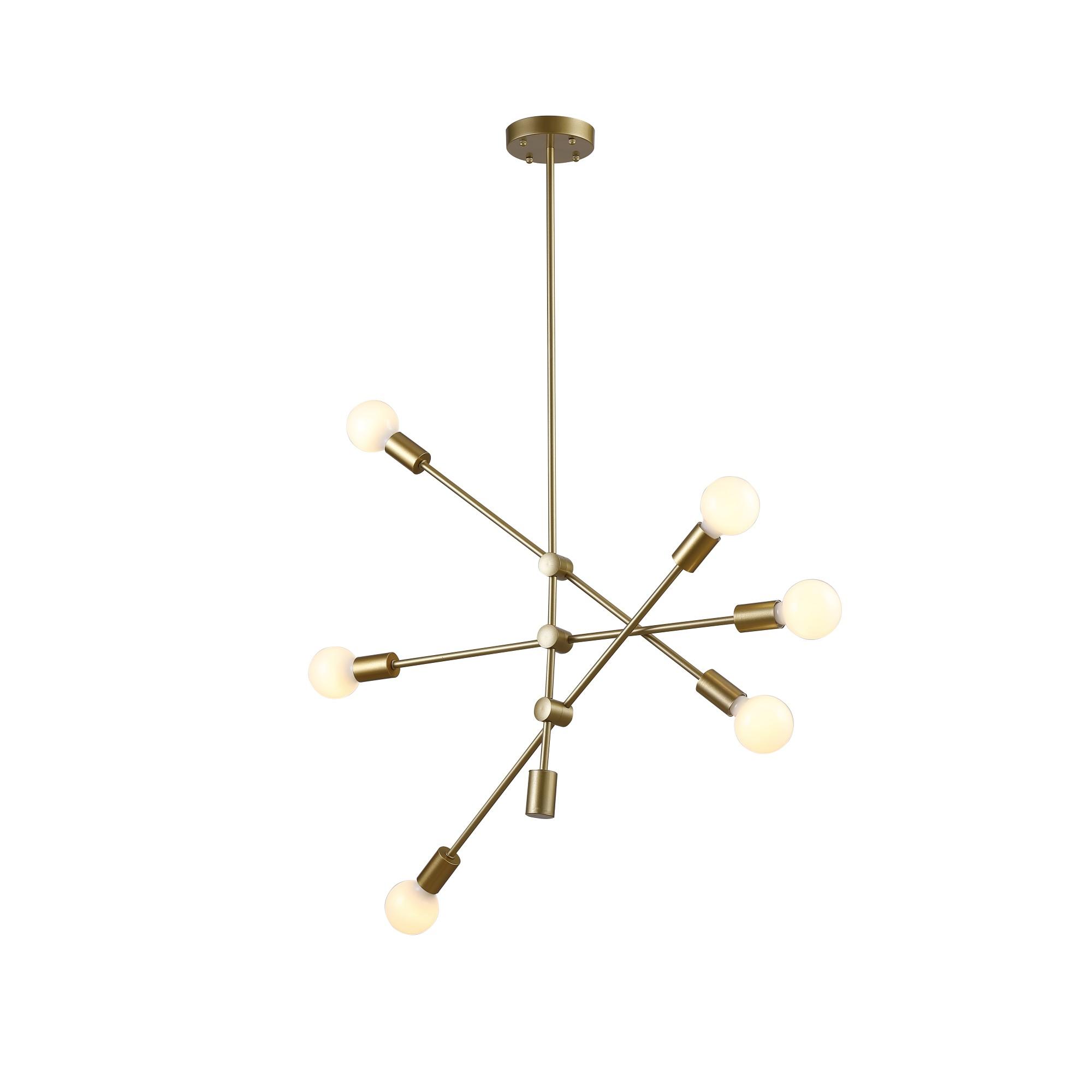 Pendente Ipanema 68 cm com 6 Lampadas Bella Iluminacao Dourado - RM004G