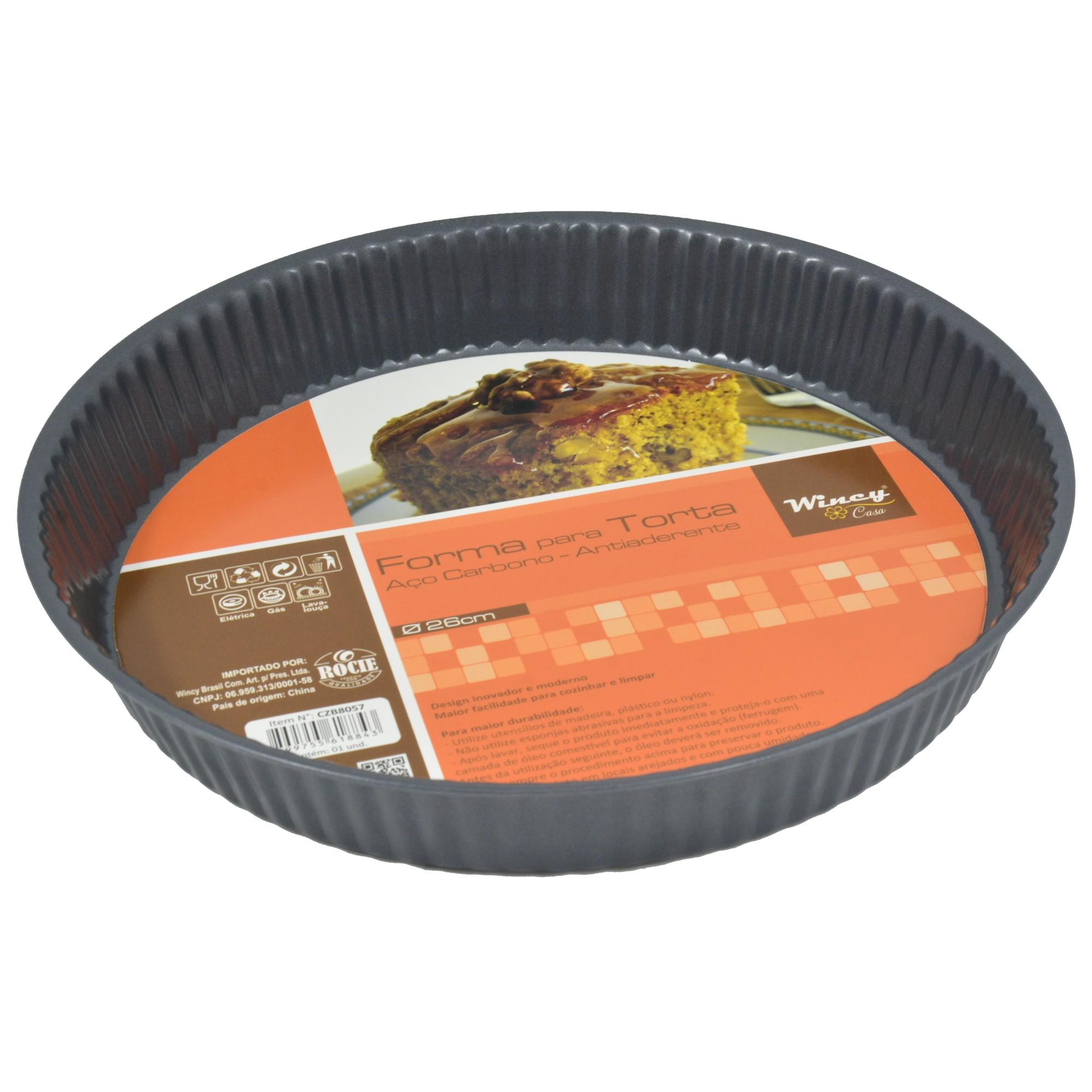 Forma Antiaderente para Torta Redonda 26 cm - Rio de Ouro