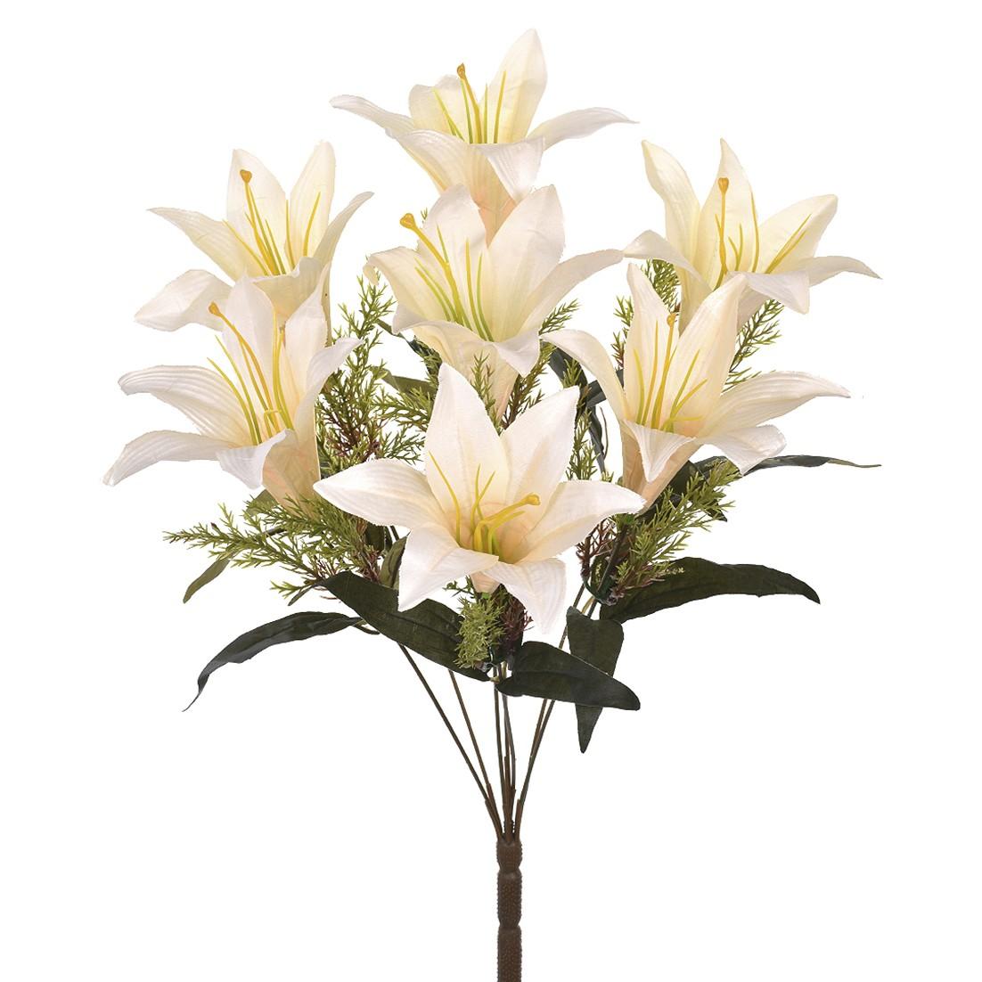 Buque Artificial de Flores Lirio 7 Complementos Creme