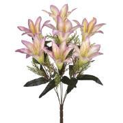 Buquê Artificial de Flores Lirio 7 Complementos