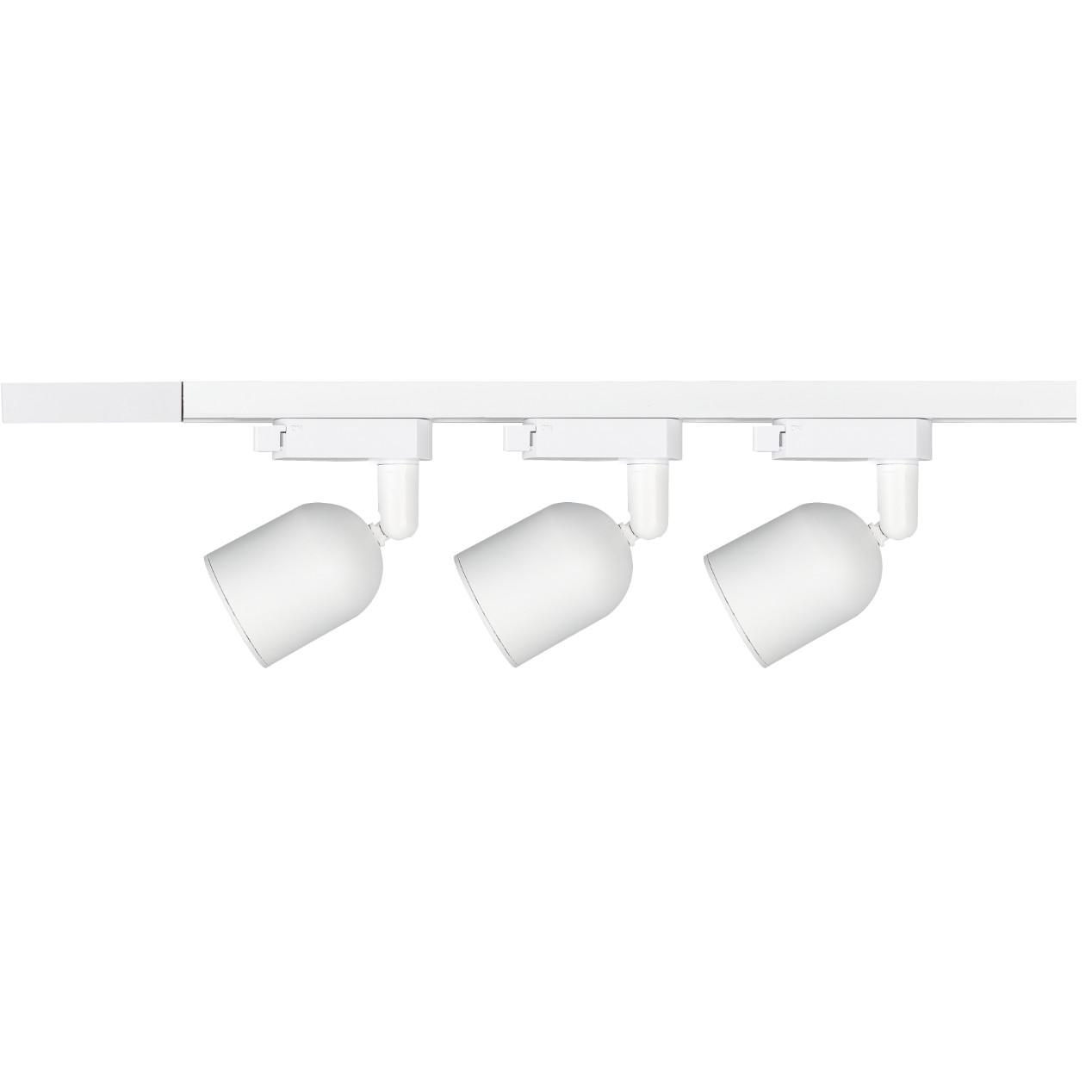 Kit Trilho Spot LED de Sobrepor com 3 Lampadas Branco 7W 110-240V Luz Branca - Avant