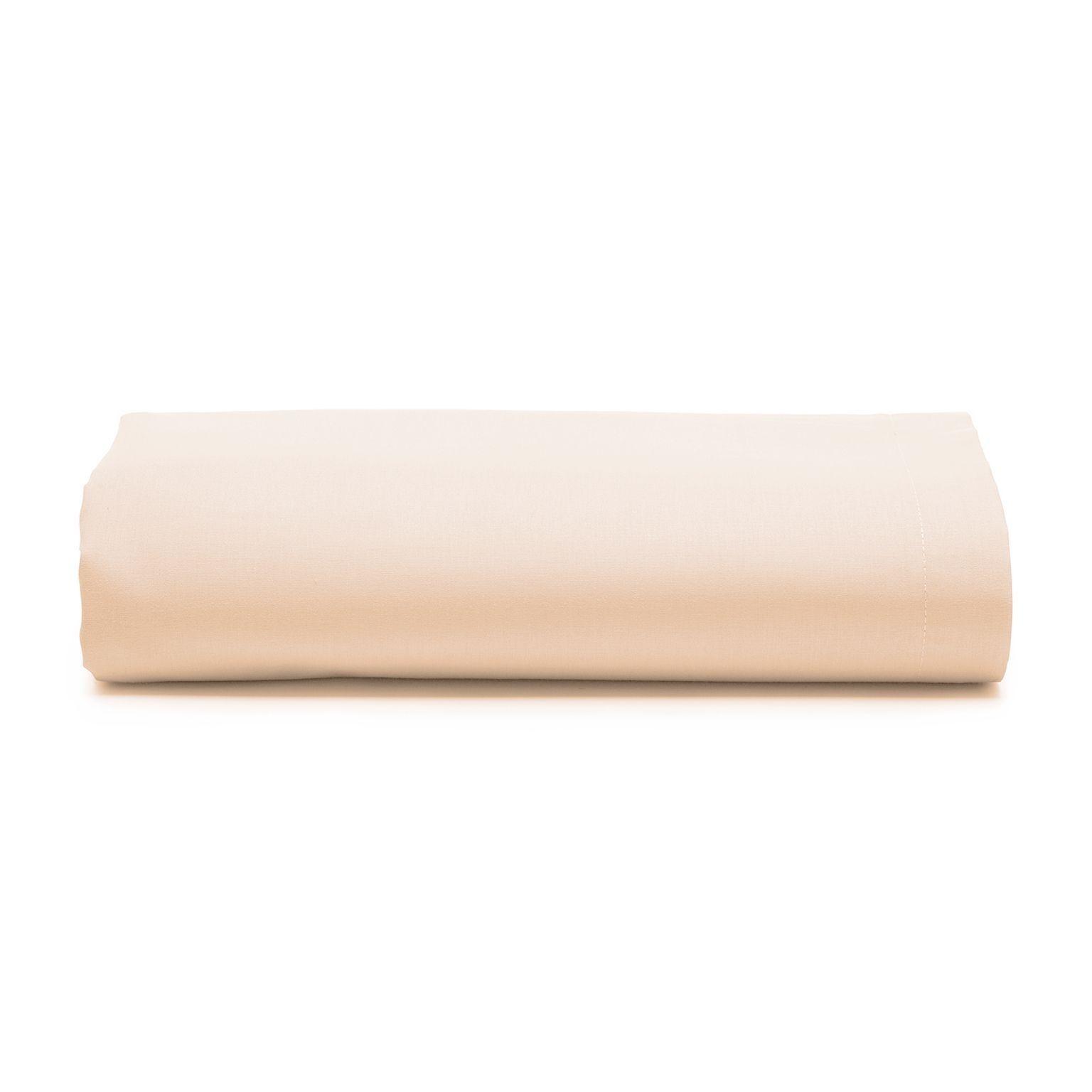 Lencol Casal Royal com Elastico 100 algodao Bege 140x190 cm Bege - Santista