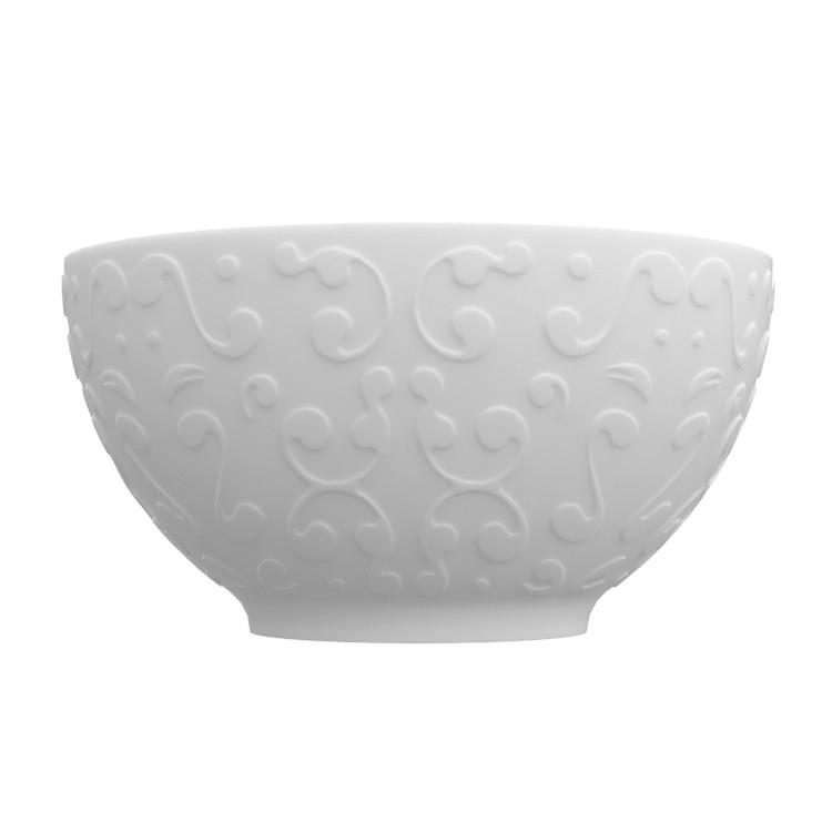 Tigela de Porcelana 400ml 1250x6 cm Branca - Germer