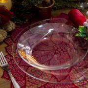 Prato Invitation Fundo de Vidro 22cm Transparente - Mypa