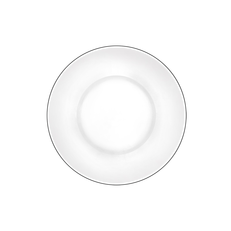 Prato Invitation de Vidro para Sobremesa 195cm Transparente - Mypa