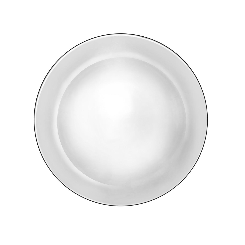Prato Invitation Raso de Vidro 26cm Transparente - Mypa