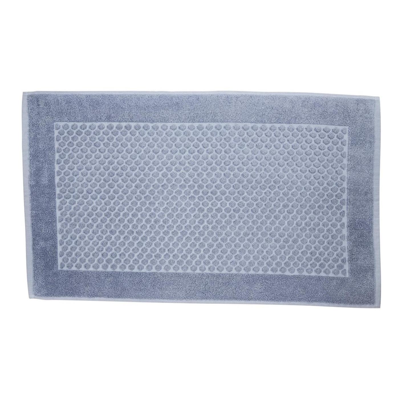 Toalha de Piso Total Mix 45x75 cm 100 Algodao Azul Denin - Artex