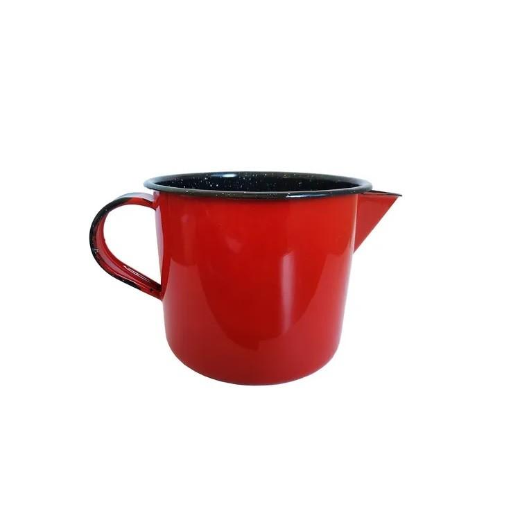 Fervedor Esmaltado Vermelho 1L - Metallouca