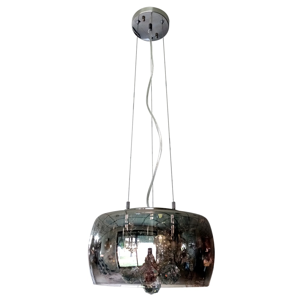 Lustre para Teto para 3 Lampadas E14 28x15 cm Prata LT-004B - Nitrolux
