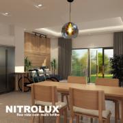 Pendente para Teto E27 22x25 cm Transparente - Nitrolux