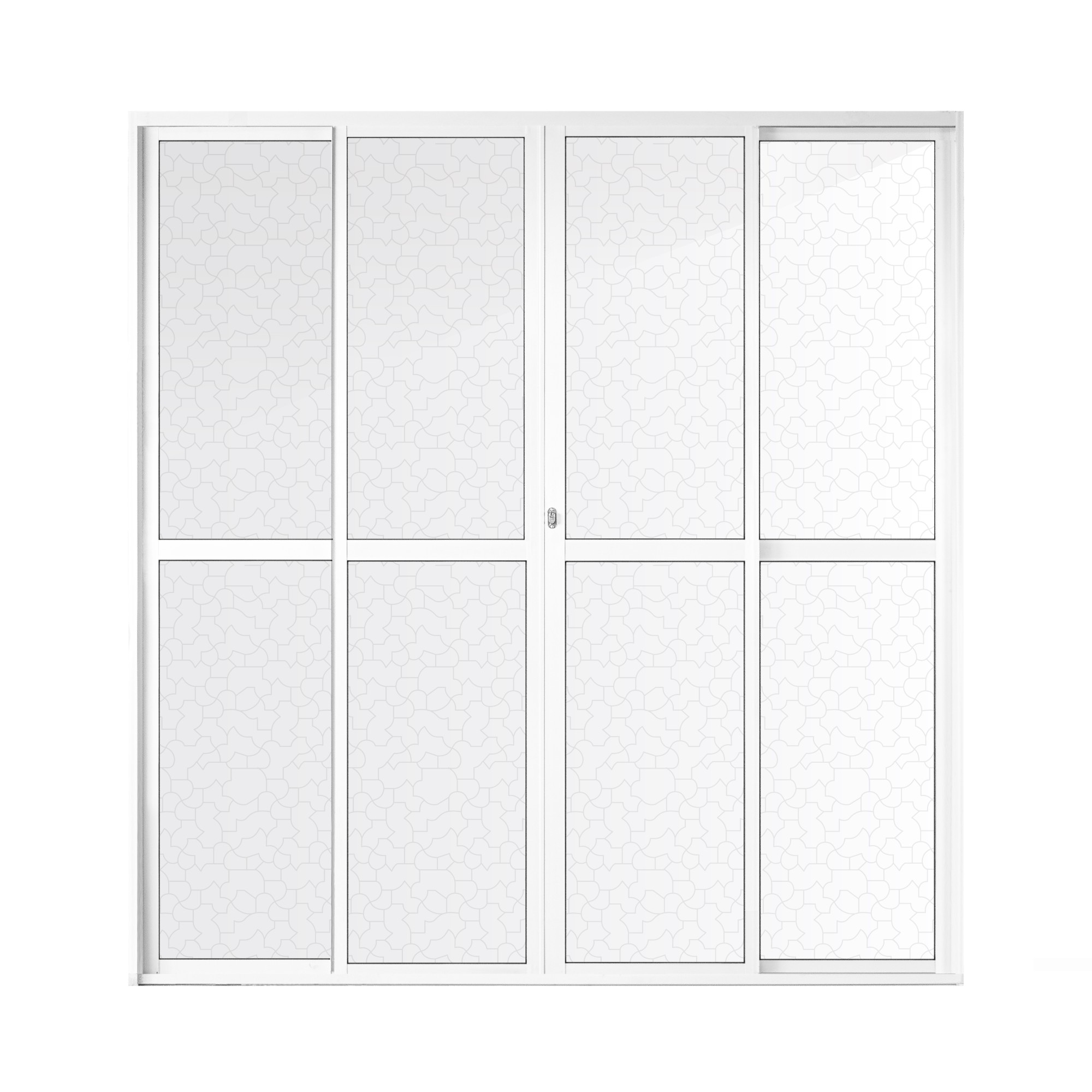 Porta Balcao de Aluminio Super Pop 4 Folhas 210x200 cm Branco - Aluvid