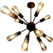 Lustre Atomus Nitrolux para 14 Lâmpadas 57 cm Preta - 3227
