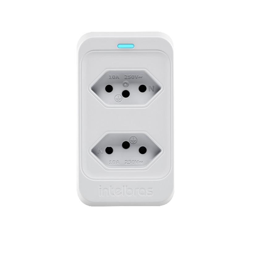Dispositivo de Protecao contra Surto Eletrico DPS Classe III 10Ka 2 Tomadas EPS 302 Branco - Intelbras