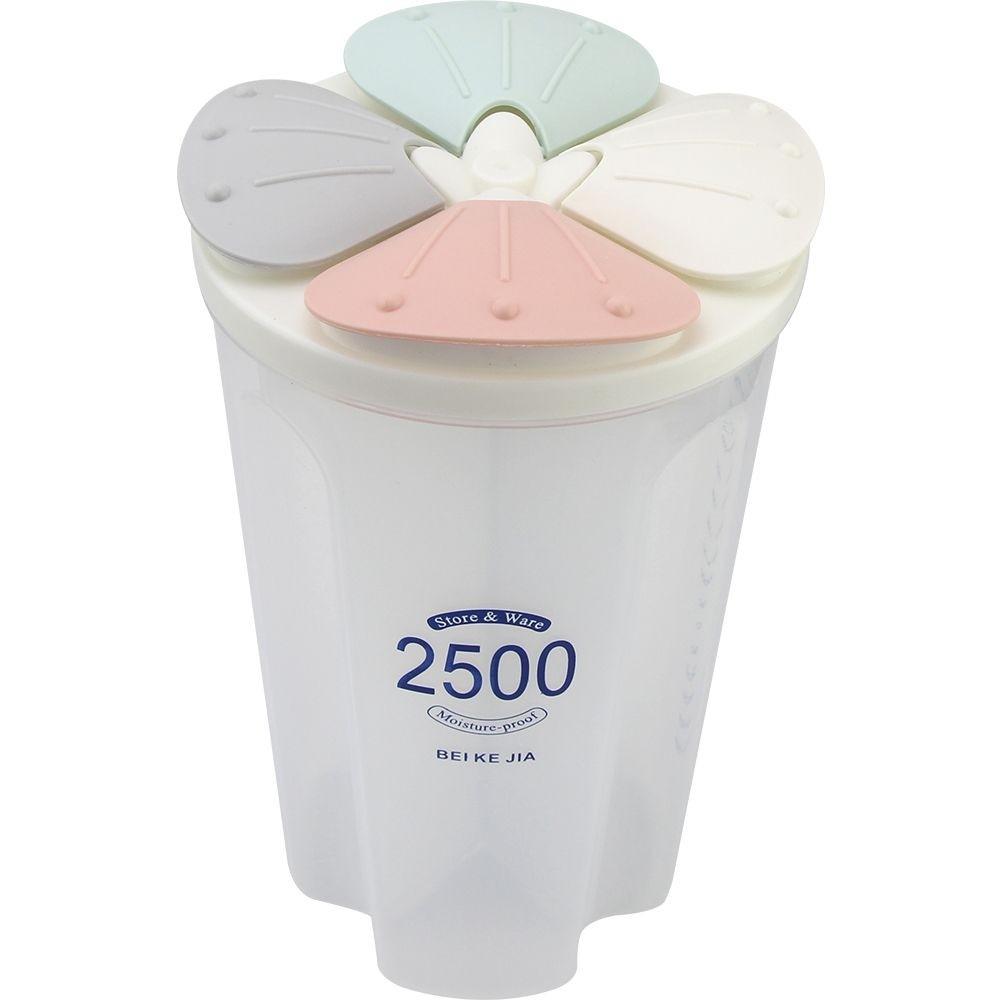 Pote Plastico Hermetico Redondo 25L com 4 Divisorias 21x12 cm - Clink