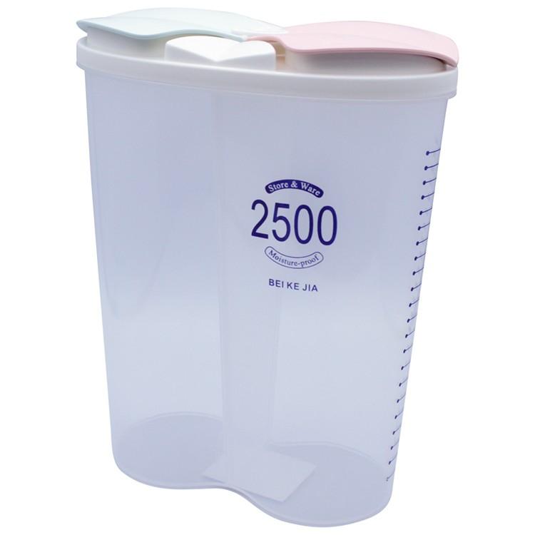 Pote Plastico Hermetico Oval 25L com 2 Divisorias 21x18x9 cm - Clink