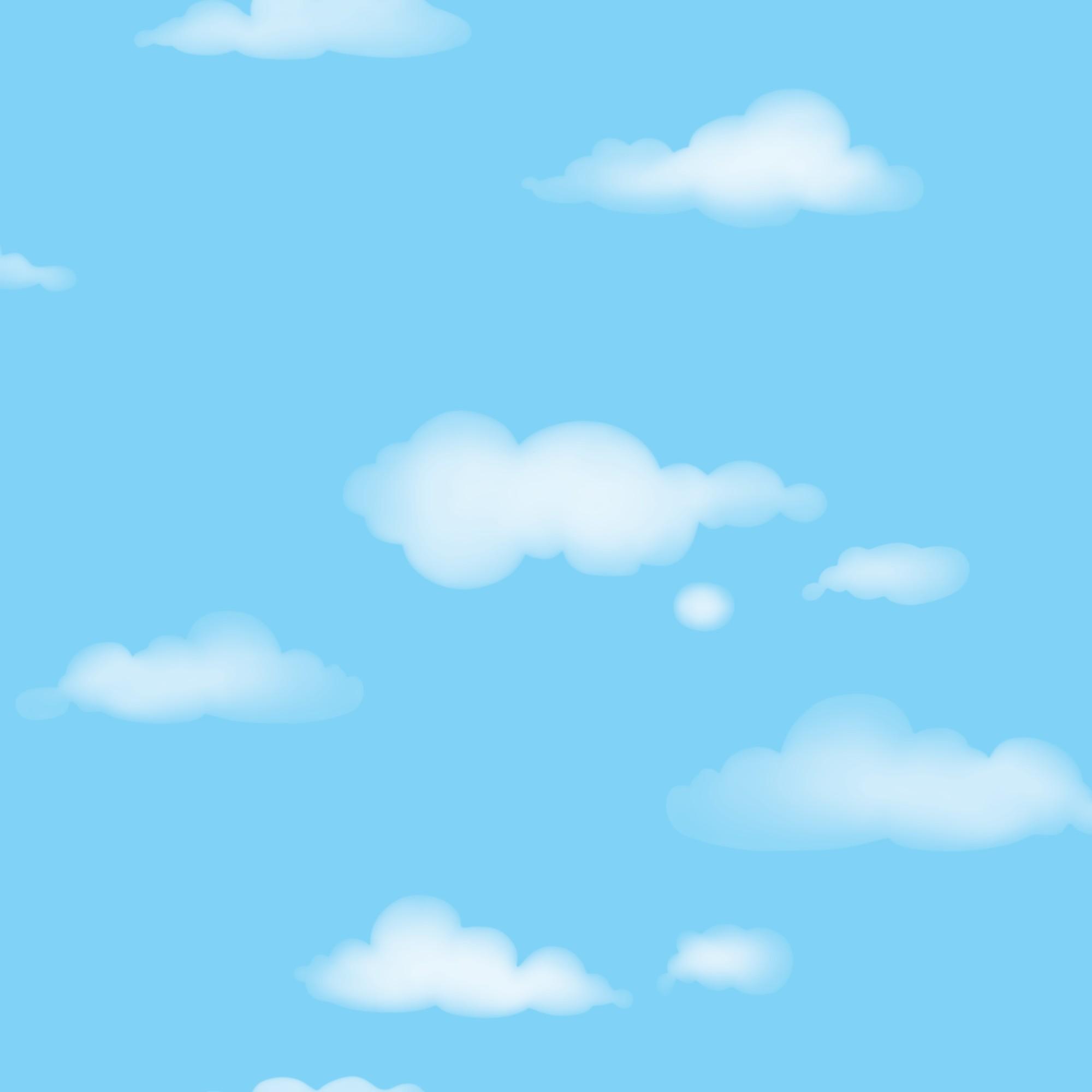 Papel de Parede 53cm x 10m PVC Sublimado Nuvem - Jolie