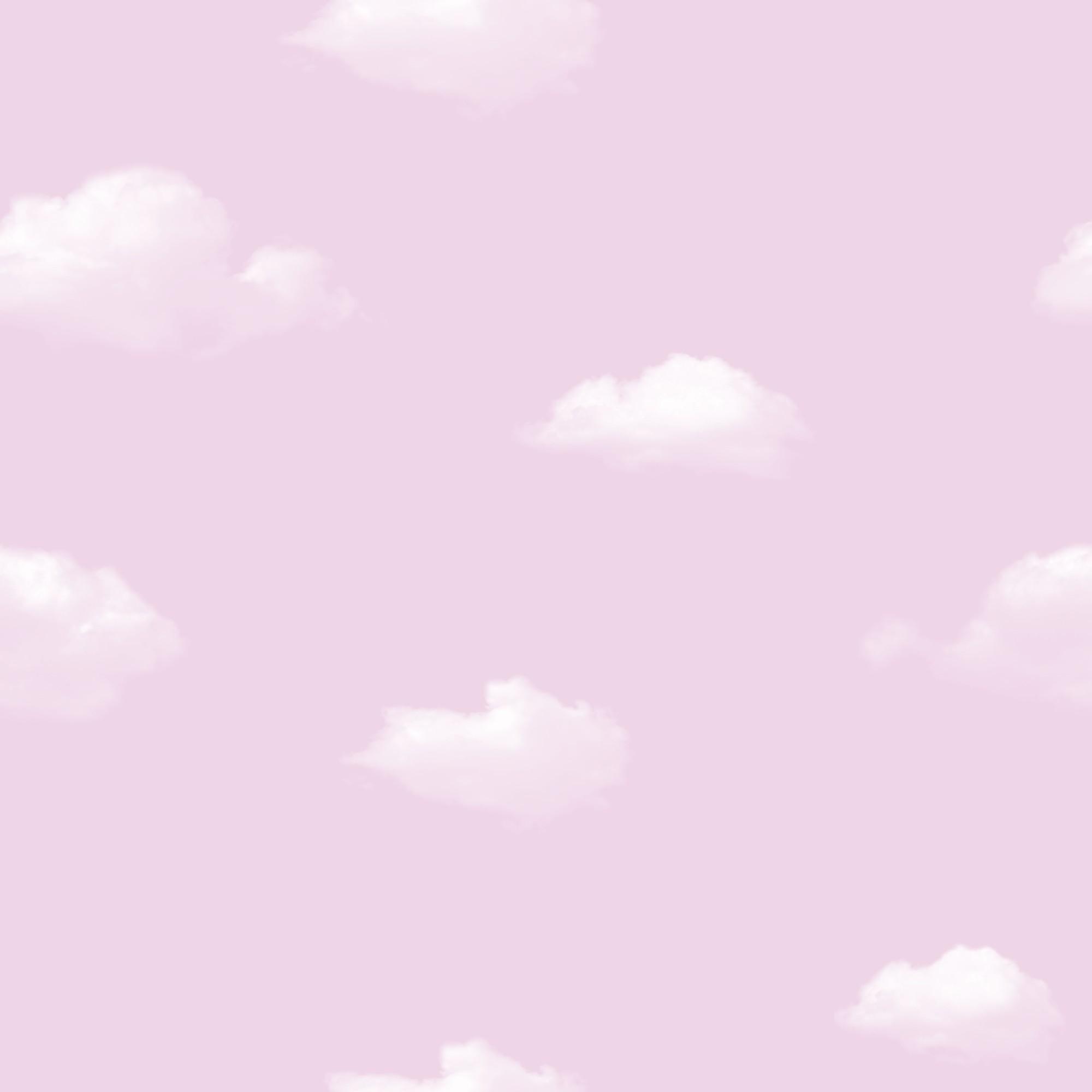 Papel de Parede 53cm x 10m PVC Sublimado Nuvens - Jolie