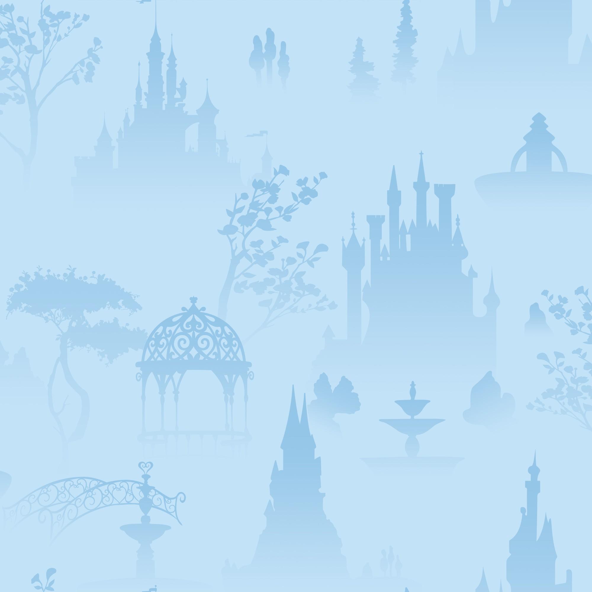 Papel de Parede 53cm x 10m PVC Sublimado Castelo Azul - Jolie