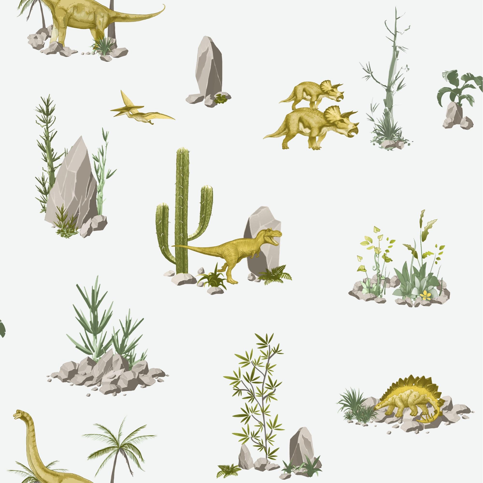 Papel de Parede 53cm x 10m PVC Sublimado Dinossauros - Jolie